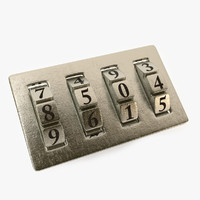 padlock lock combination c4d