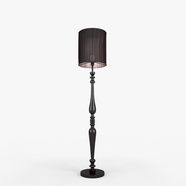 3d standing lamp lights