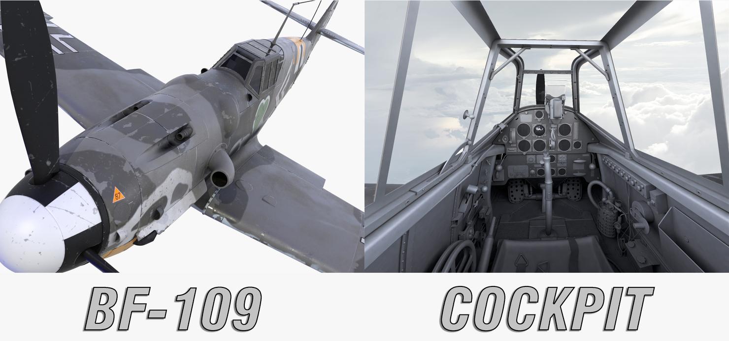 bf-109 cockpit 3d model