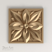 The carved rosette 3D | Rz_010