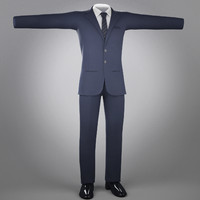suit jean cloth 3d ma