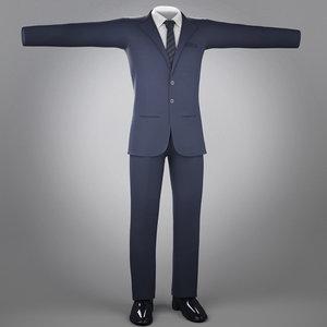 suit jean cloth 3d ma