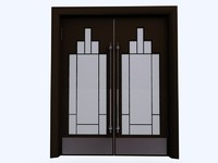 art deco door set 3d c4d