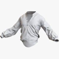3d model shirt pbr marmoset
