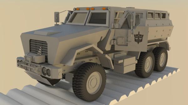 caiman vehicle 3d obj