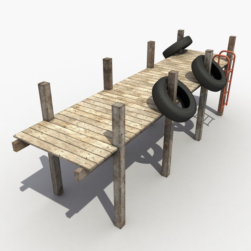 dock modeled 3d obj