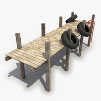 dock modeled 3d obj