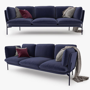 tradition cloud seater sofa 3d max