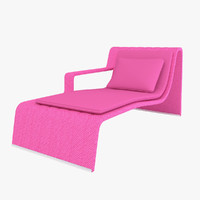 paola lenti sunbed frame 3d max