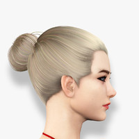 3d model realistic female girl body