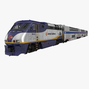 passenger double deck train 3d max