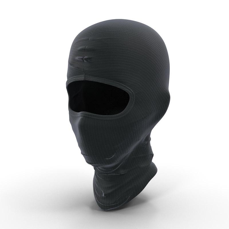 3d model of swat face mask modeled