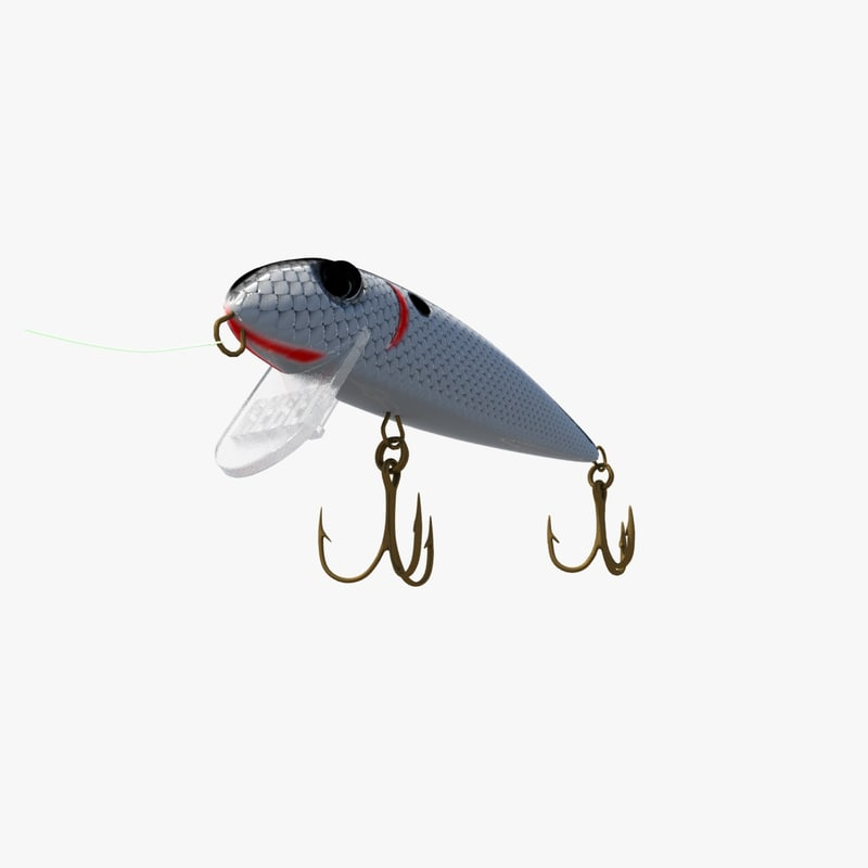 3d rebel fishing lure model