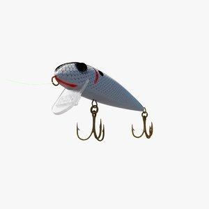 3d rebel fishing lure model