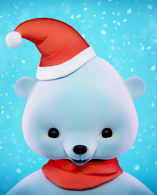 cute cartoon bear 3d max