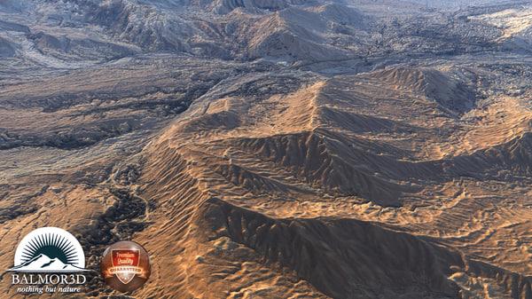 3d model desert mountain