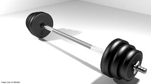 3d exercise barbell equipment