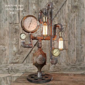 3d model of steam lamp lights