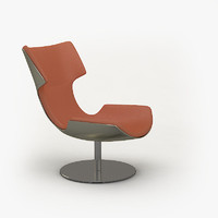 modern lounge chair 3d 3ds