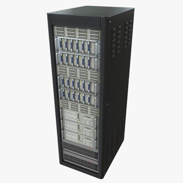 3d model of server asset polys