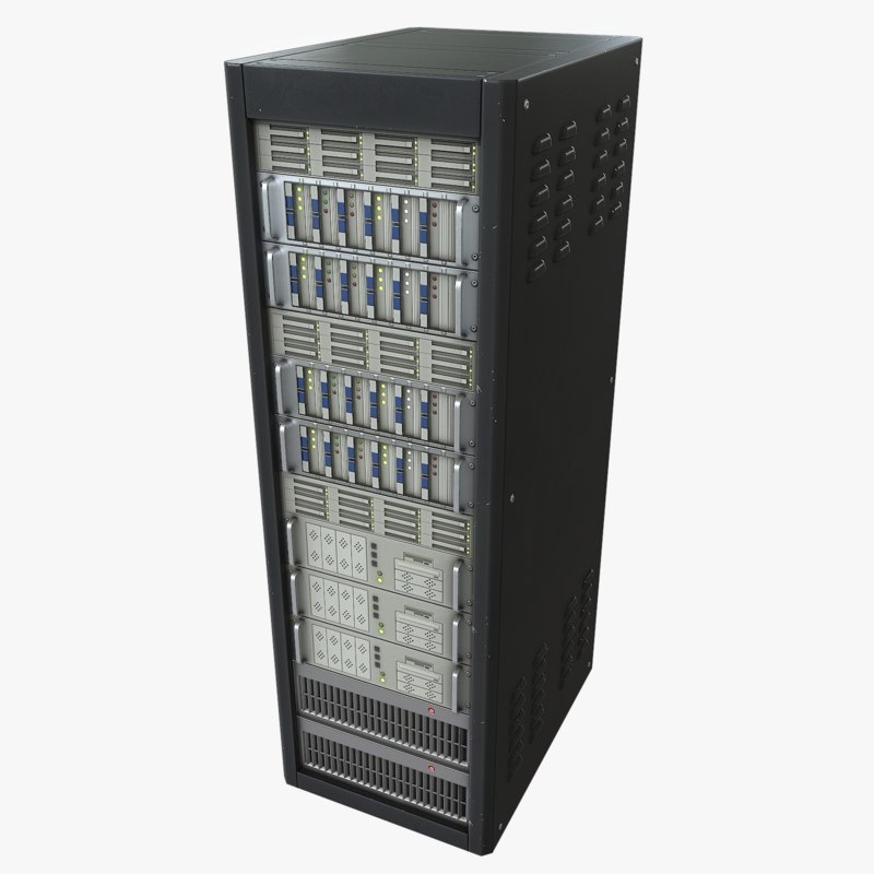 3d model of server asset polys