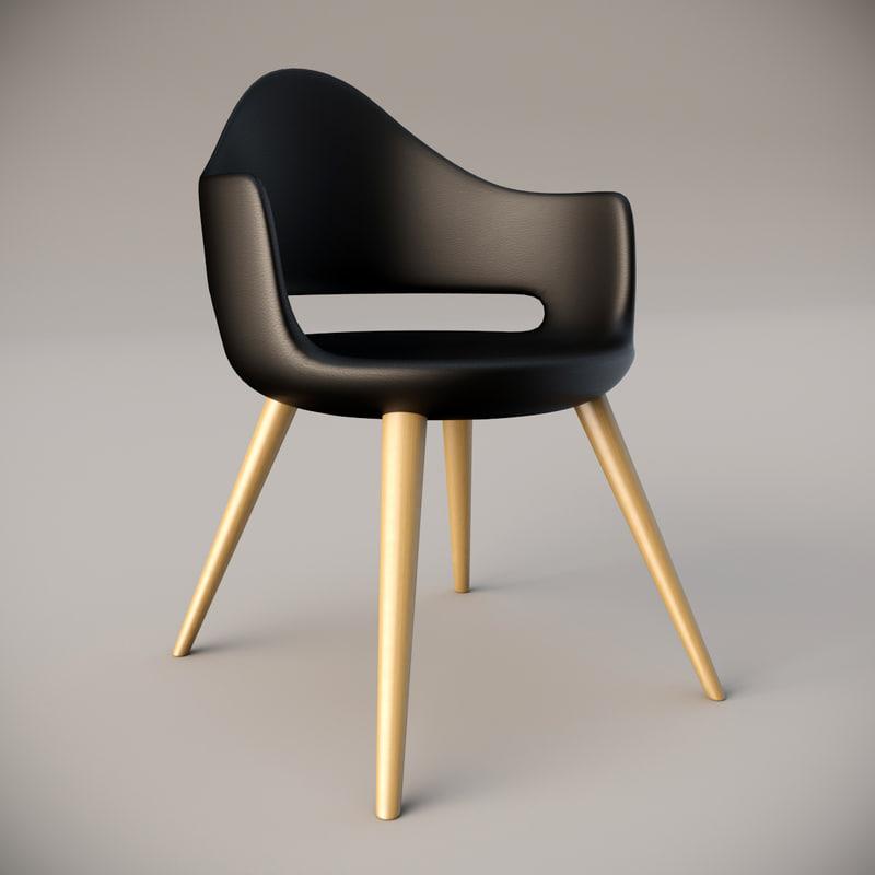 3d model soft-l domitalia armchair