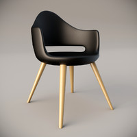 3d model soft-l domitalia armchair