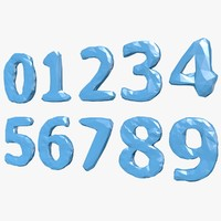 3d numbers b model