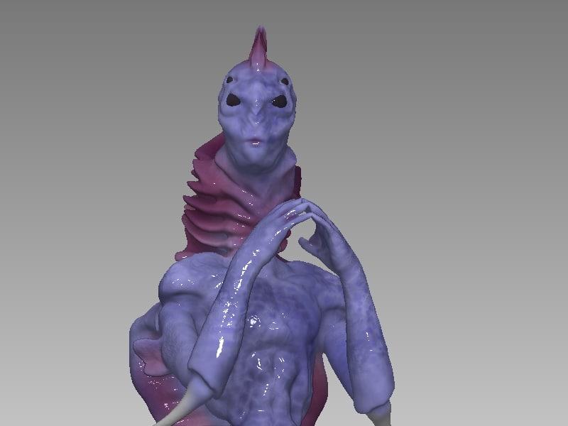 mermaid 3d obj