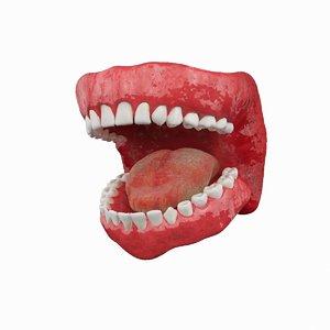 3d model teeth gums rigged