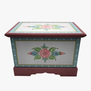 3d painted box
