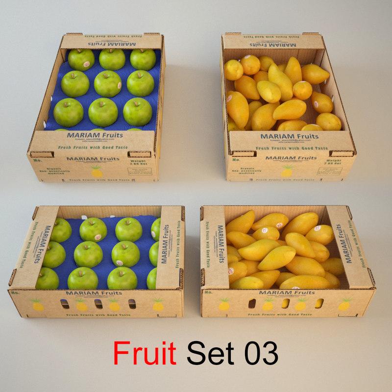 fruit set 03 3d model