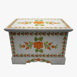 3d model painted box