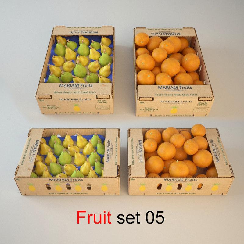 3d fruit set 05 model