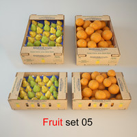 3d fruit set 05 model