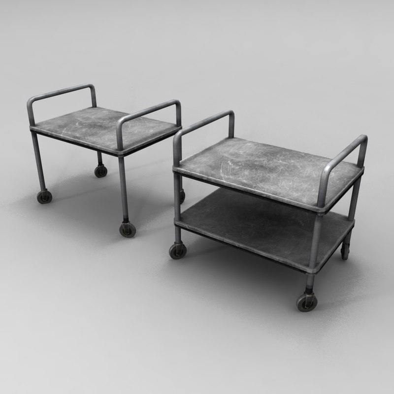 medical lab table 3d model