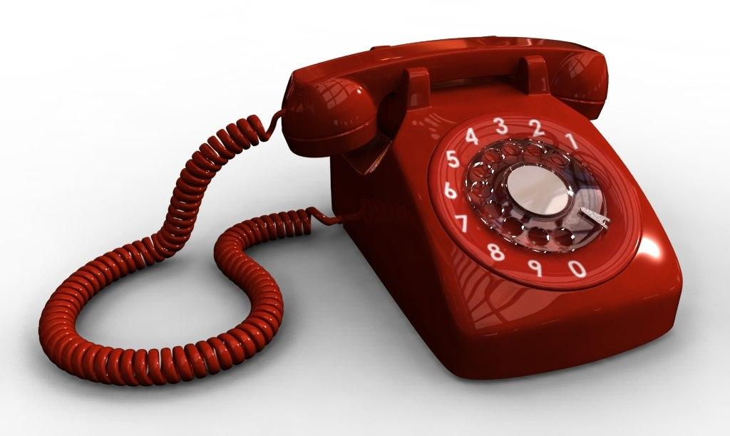 3d model telephone phone retro
