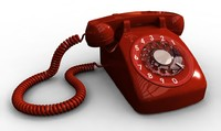 3d model telephone phone retro
