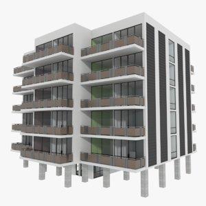 3d apartment building interior model