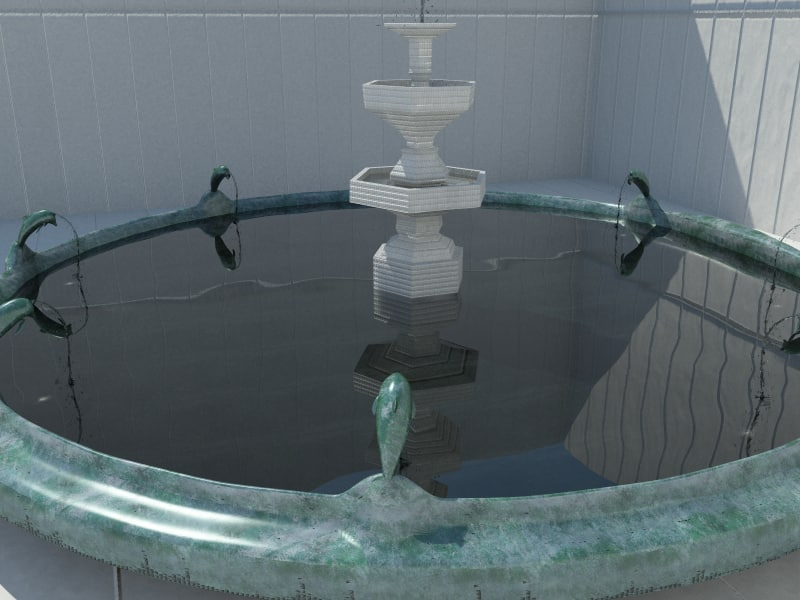 dolphin fountain water 3ds