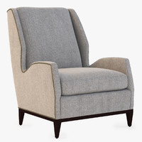 rockhill wing chair 3d model