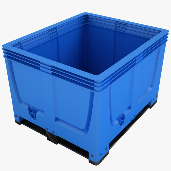 3d plastic crate model