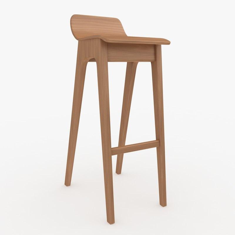 3d bar stool 04 model