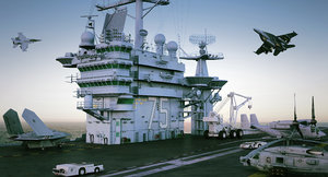 cvn s uss harry 3d max