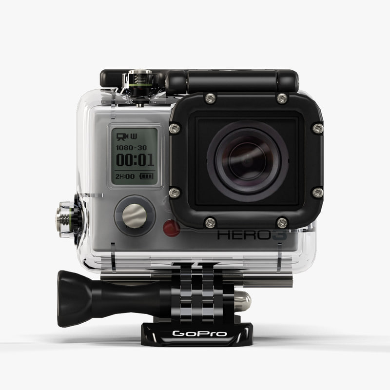 3ds max low-poly gopro hero3 camera
