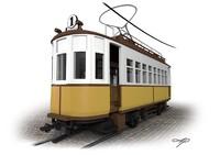 3d old tram model