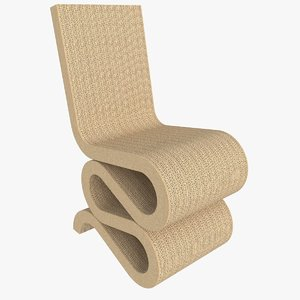 3d wiggle chair model