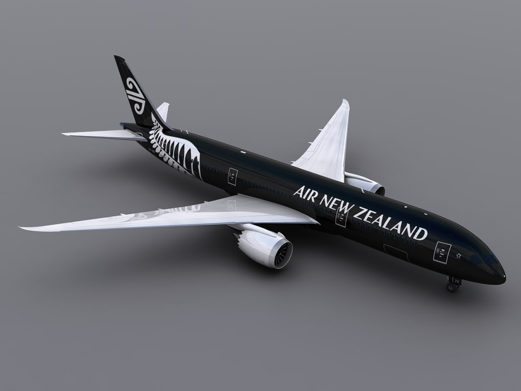 aircraft air new zealand 3d max