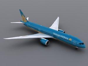 3d model of aircraft vietnam airlines