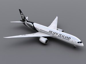 3d model aircraft air new zealand